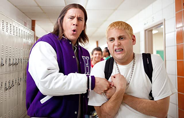 Channing Tatum and Jonah Hill in 21 Jump Street (2012)
