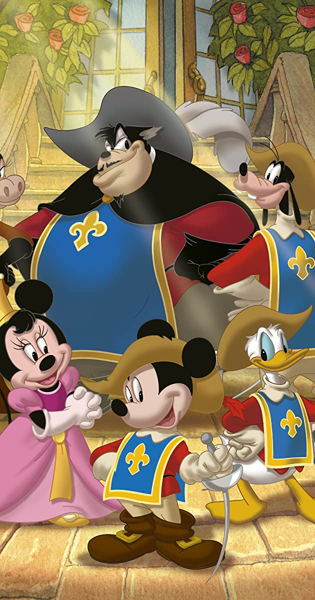 Mickey Donald Goofy The Three Musketeers Video 2004