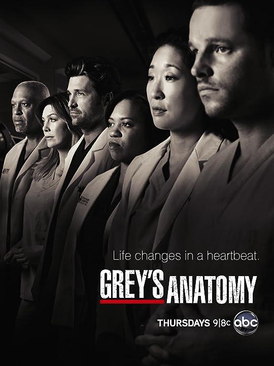 Patrick Dempsey, Justin Chambers, Sandra Oh, James Pickens Jr., Ellen Pompeo, and Chandra Wilson in Grey's Anatomy (2005)