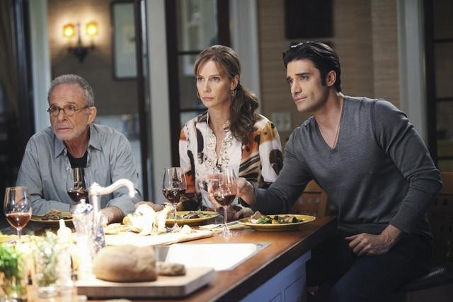 Rachel Griffiths, Ron Rifkin, and Gilles Marini in Brothers & Sisters (2006)