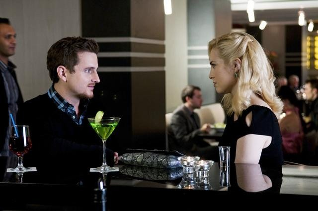 Charlotte Sullivan and Elias Toufexis in Rookie Blue (2010)