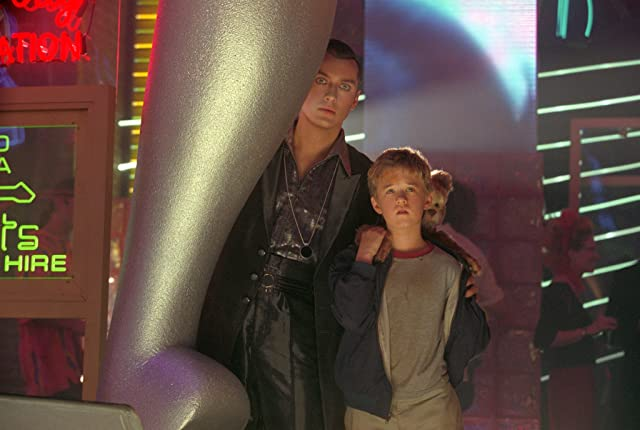 Jude Law and Haley Joel Osment in A.I. Artificial Intelligence (2001)