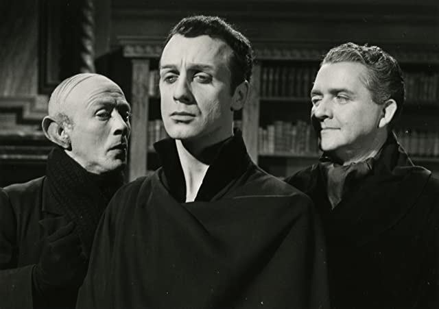 Allan Edwall, Stig Järrel, and Jarl Kulle in The Devil's Eye (1960)