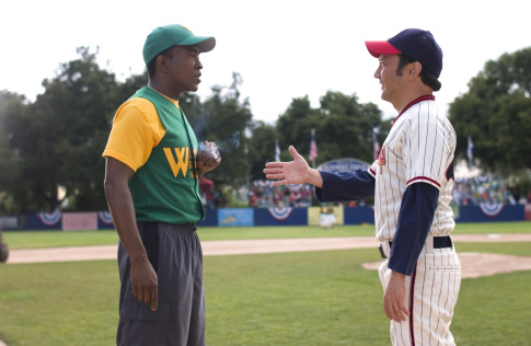 Rob Schneider and Tim Meadows in The Benchwarmers (2006)