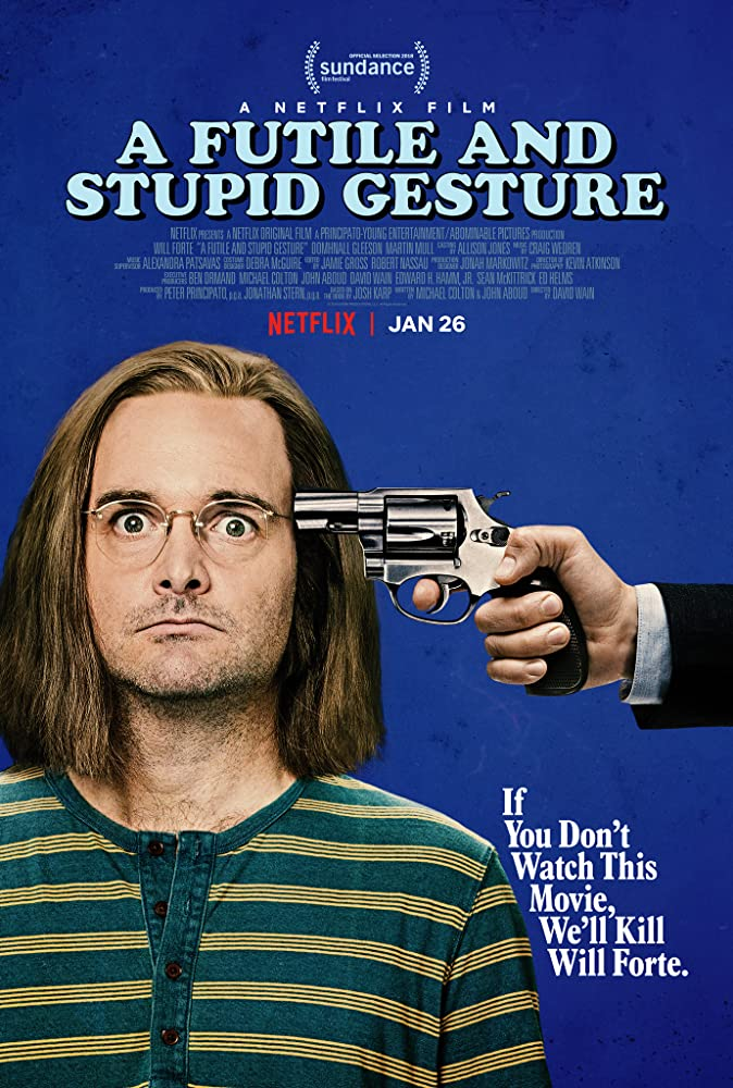Will Forte in A Futile and Stupid Gesture (2018)