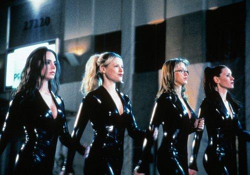 Shannon Elizabeth, Ali Larter, Eliza Dushku, and Jennifer Schwalbach Smith in Jay and Silent Bob Strike Back (2001)