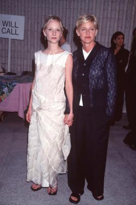 Anne Heche and Ellen DeGeneres at an event for Six Days Seven Nights (1998)