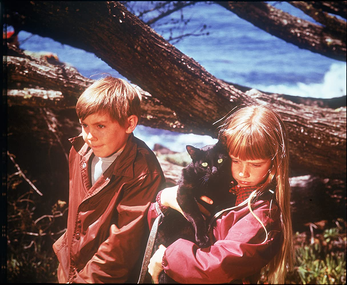 Kim Richards e Ike Eisenmann in una scena di Escape to Witch Mountain (1975)