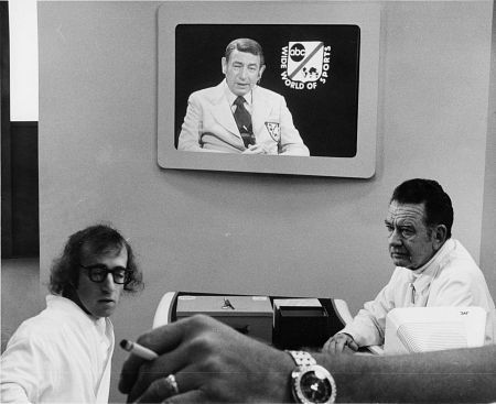 DON KEEFER with WOODY ALLEN in SLEEPER (on screen - Howard Cosell)