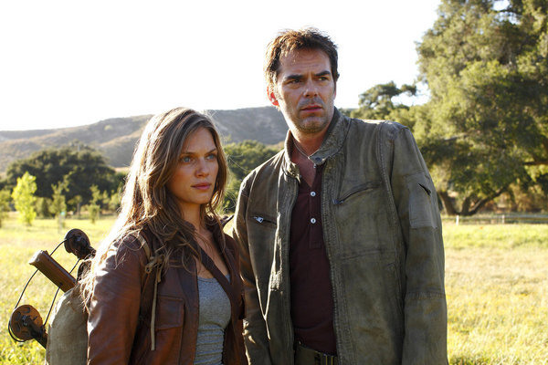 Billy Burke and Tracy Spiridakos in Revolution (2012)