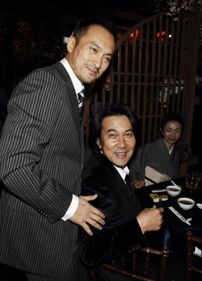 Ken Watanabe and Kôji Yakusho at Memoirs of a Geisha (2005)
