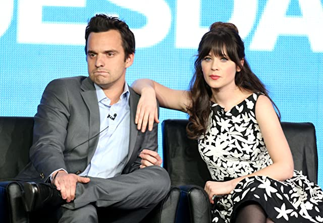 Zooey Deschanel and Jake Johnson at New Girl (2011)