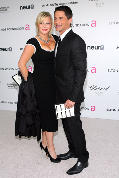 Rob Lowe and Sheryl Berkoff at event of The 82nd Annual Academy Awards