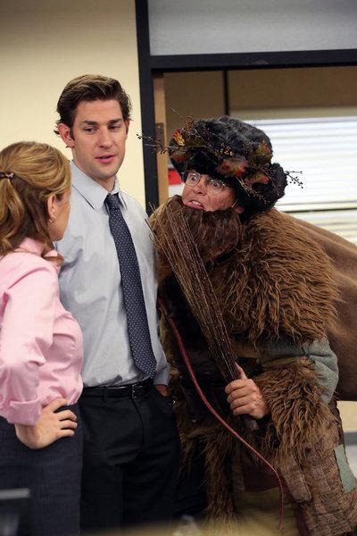 Jenna Fischer, Rainn Wilson, and John Krasinski in The Office (2005)