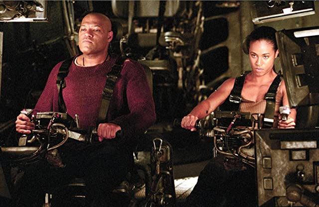 Laurence Fishburne and Jada Pinkett Smith in The Matrix Revolutions (2003)