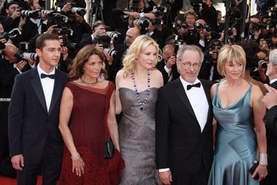 Steven Spielberg, Karen Allen, Cate Blanchett, Kate Capshaw, and Shia LaBeouf at Indiana Jones and the Kingdom of the Crystal Skull (2008)