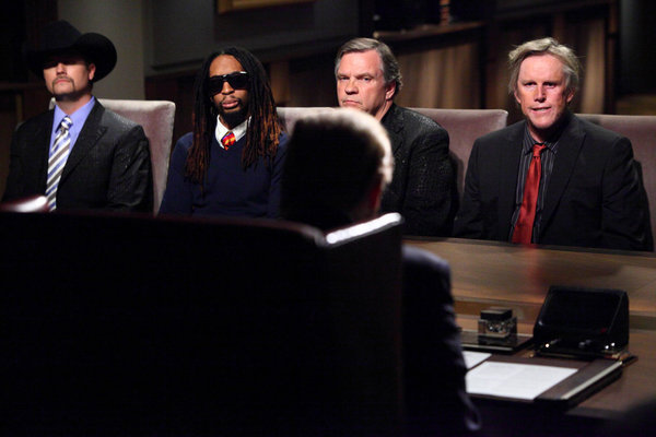 Gary Busey, Meat Loaf, Lil Jon, and John Rich in The Apprentice (2004)