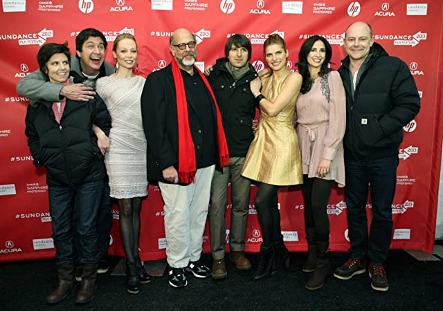 Alexandra Holden, Tig Notaro, Ken Marino, Fred Melamed, Rob Corddry, Lake Bell, Michaela Watkins, and Demetri Martin at In a World... (2013)