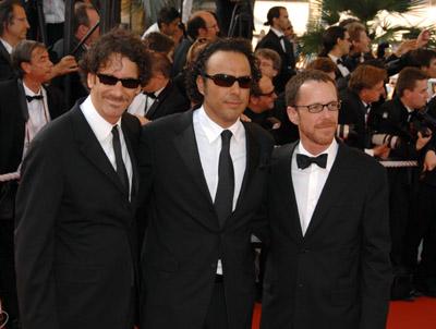 Ethan Coen, Joel Coen, and Alejandro G. Iñárritu at To Each His Own Cinema (2007)