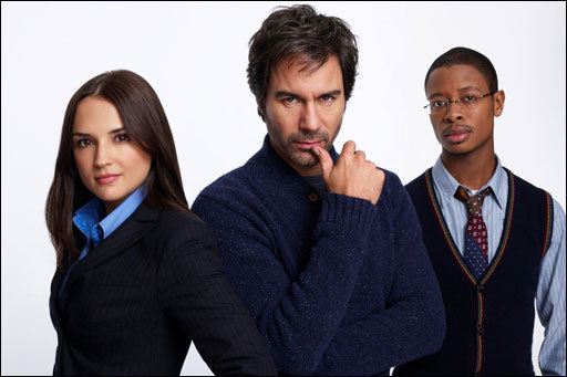 Rachael Leigh Cook, Eric McCormack, and Arjay Smith in Perception (2012)