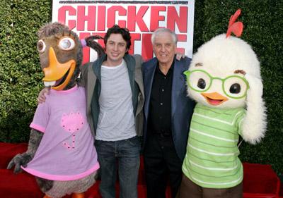 Garry Marshall and Zach Braff at Chicken Little (2005)