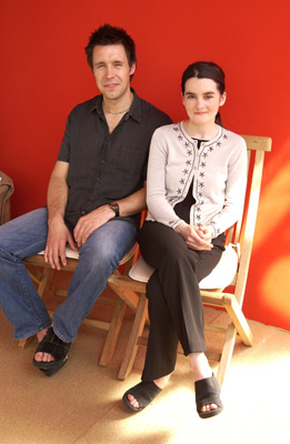 Paddy Considine and Shirley Henderson at 24 Hour Party People (2002)