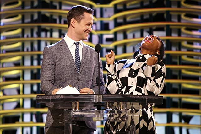 Joseph Gordon-Levitt and Janelle Monáe at an event for 32nd Film Independent Spirit Awards (2017)