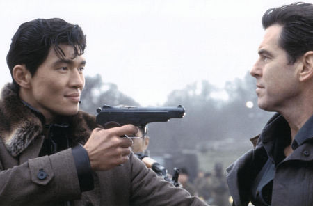 Pierce Brosnan and Rick Yune in Die Another Day (2002)