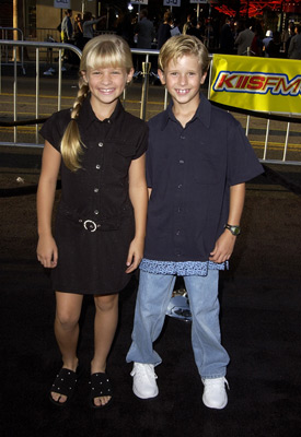 Jenna Boyd and Cayden Boyd at an event for The Tuxedo (2002)