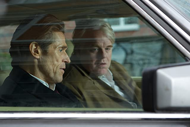 Willem Dafoe and Philip Seymour Hoffman in A Most Wanted Man (2014)
