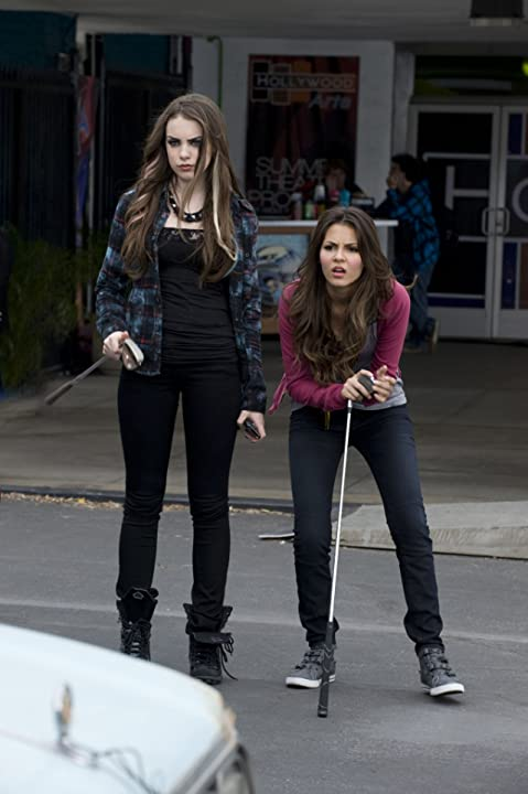Victoria Justice and Elizabeth Gillies in Victorious (2010)