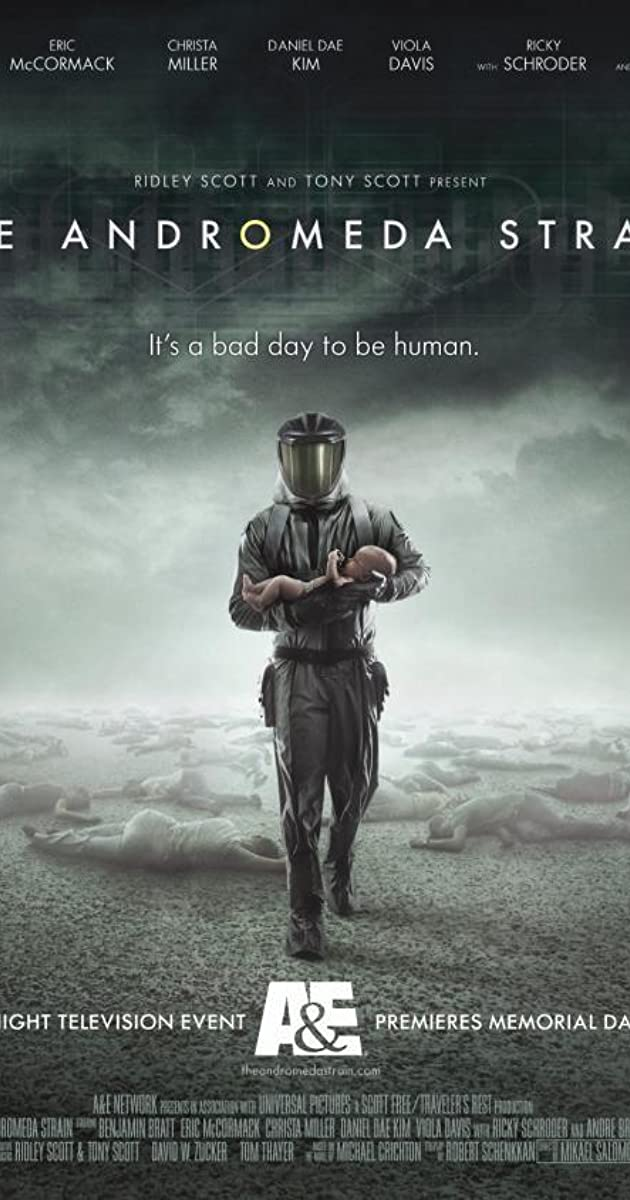 """andromeda strain Synopsis: """"when virtually all of the residents of piedmont, new mexico, are found dead after the return to earth of a space satellite, the head of the us air force project scoop declares an emergency."""