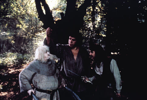 André the Giant, Mandy Patinkin, and Mel Smith in The Princess Bride (1987)