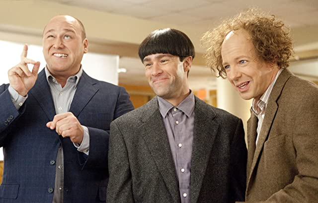 Sean Hayes, Chris Diamantopoulos, and Will Sasso in The Three Stooges (2012)