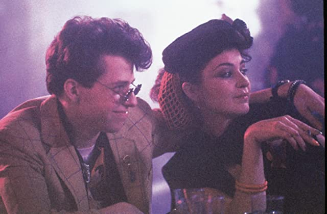 Jon Cryer and Annie Potts in Pretty in Pink (1986)
