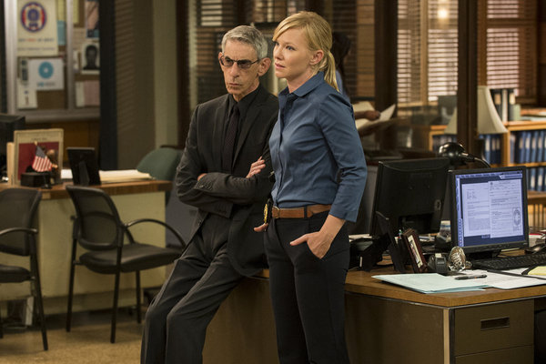 Richard Belzer and Kelli Giddish in Law & Order: Special Victims Unit (1999)