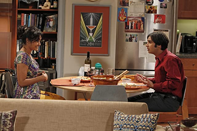 Chriselle Almeida and Kunal Nayyar in The Big Bang Theory (2007)