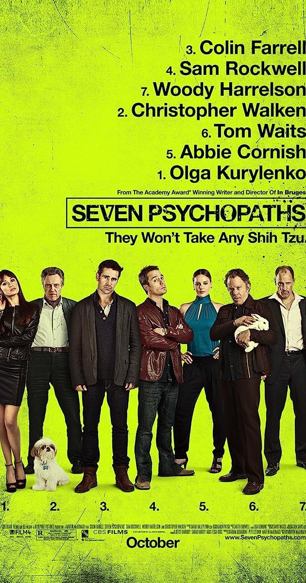 Septyni Psichopatai / Seven Psychopaths (2012) Online