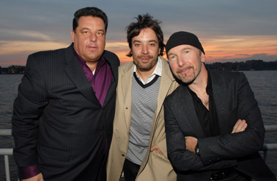 Jimmy Fallon, Steve Schirripa, and The Edge