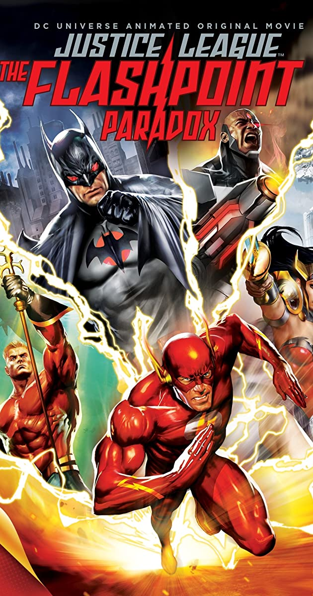Image result for justice league flashpoint paradox poster