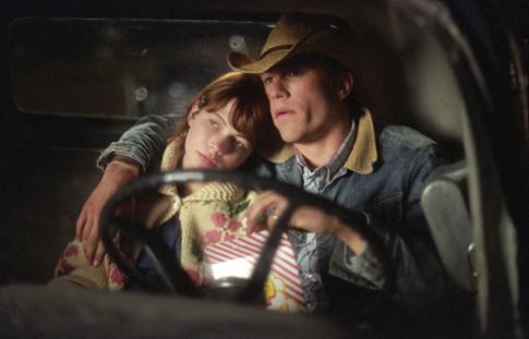 Heath Ledger and Michelle Williams in Brokeback Mountain (2005)