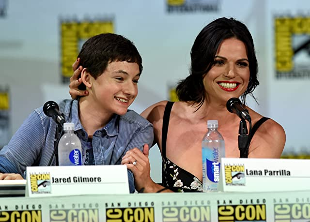 Lana Parrilla and Jared Gilmore at Once Upon a Time (2011)