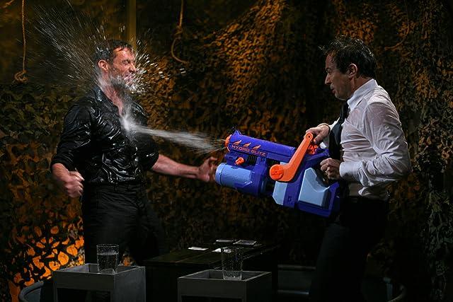 Jimmy Fallon and Hugh Jackman at Late Night with Jimmy Fallon (2009)