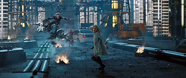 Emma Stone, Andrew Garfield, and Dane DeHaan in The Amazing Spider-Man 2 (2014)
