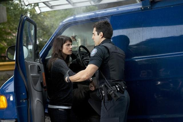 William Shatner, Ben Bass, and Missy Peregrym in Rookie Blue (2010)
