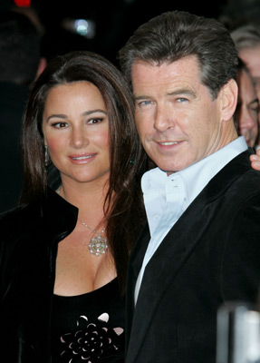 Pierce Brosnan and Keely Shaye Smith at After the Sunset (2004)