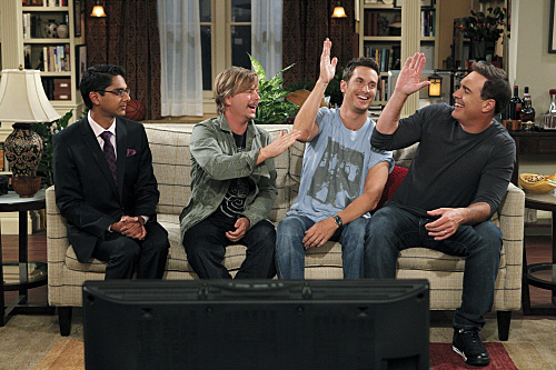Oliver Hudson, David Spade, Patrick Warburton, and Adhir Kalyan in Rules of Engagement (2007)