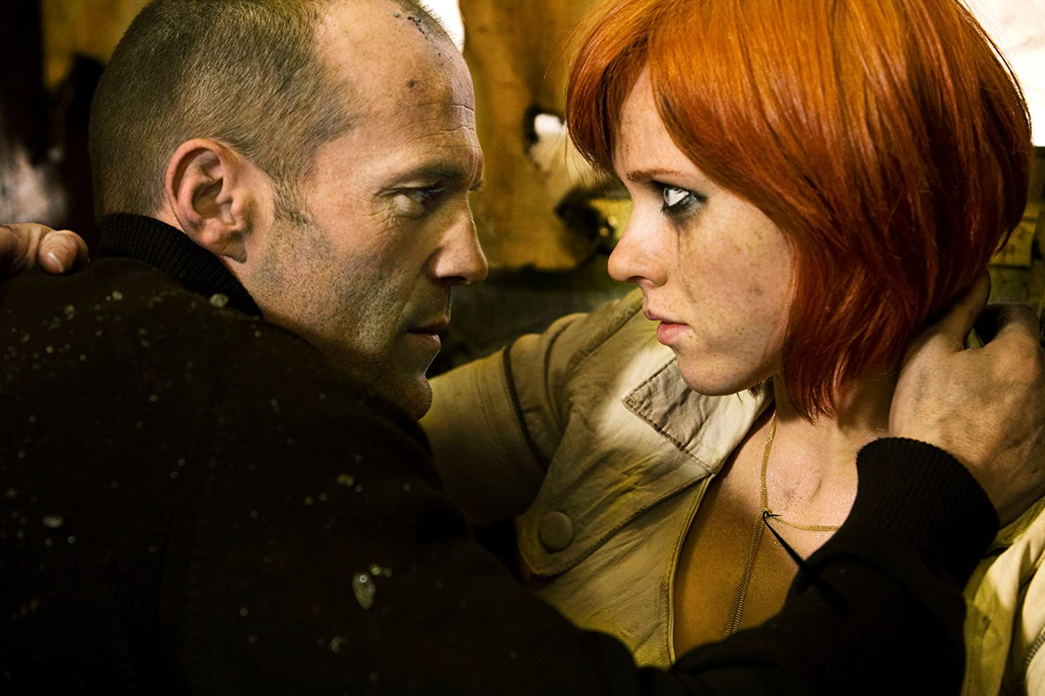 Jason Statham and Natalya Rudakova in Transporter 3 (2008)