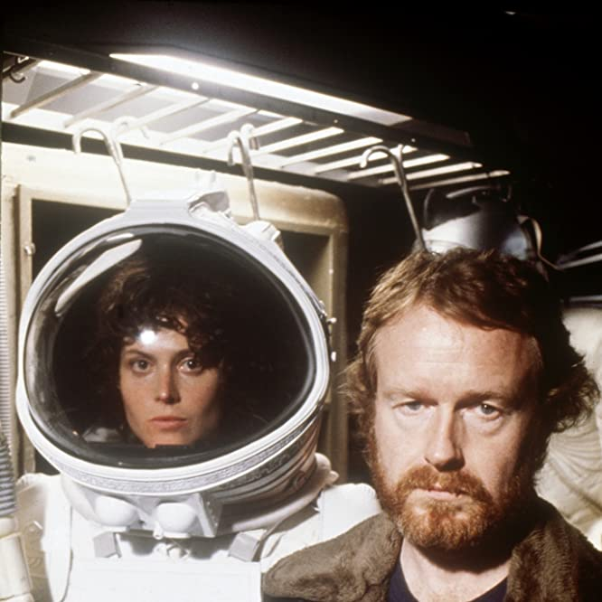 Sigourney Weaver and Ridley Scott in Alien (1979)