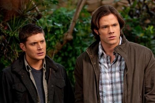 Jensen Ackles and Jared Padalecki in Supernatural: Dark Side of the Moon (2010)